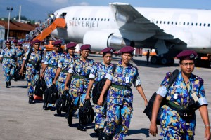 Bangladeshi female UN troops