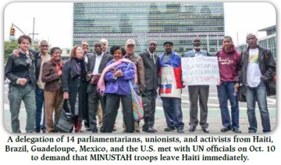 Delegation in front of UN HQ October 2013