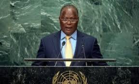 Le Président provisoire, Jocelerme Privert adressant l'assistance aux Nations-Unies le vendredi 23 septembre 2016
