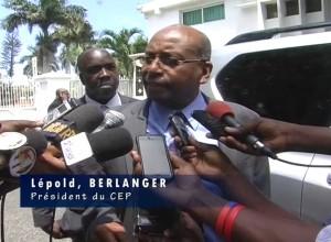 Le Président du CEP Léopold Berlanger