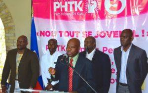 Certains des « grands ténors » du PHTK, Rudy Herivaux et Guichard Doré à droite