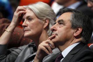 François Fillon et son épouse Penelope. Avec ce scandale qui les éclabousse, ils n'ont pas l'air heureux.