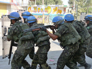 "UN troops have militarily occupied Haiti since 2004. ""The restoration of sovereignty is a prerequisite to a sovereign foreign policy."""