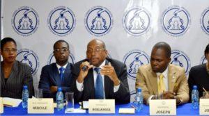 Quelques membres du Conseil Électoral Provisoire (CEP) de l'année 2016