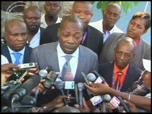 Le Commissaire du Gouvernement près du Tribunal de Première Instance de Port-au-Prince, Me Danton Léger