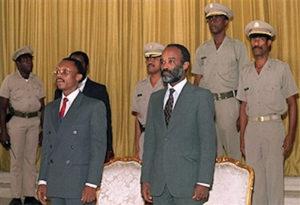 President Jean-Bertrand Aristide and Prime Minister René Préval in 1991.