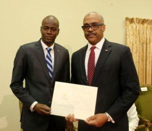 Le président Jovenel Moise et le Premier ministre qu'il a choisi le Dr Jack Guy Lafontant